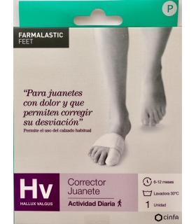 corrector juanetes hallux valgus farmalastic gel de silicona t- peq
