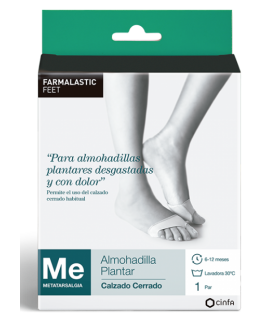 Farmalastic Feet Almohadilla Plantar Calzado Cerrado T-P