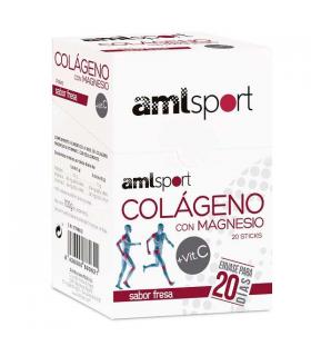 AmlSport Colágeno con Magnesio + Vit.C Sticks