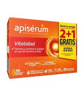 Apisérum Vitalidad Cápsulas Pack 2+1