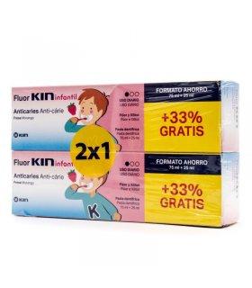 Fluor Kin Infantil Pasta Dentífrica 75+25 ml Pack Duplo