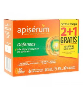 Apisérum Defensas Cápsulas Pack 2+1